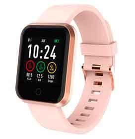 """Smartwatch Roma Atrio Rose com 1,3"""", Pulseira em Silicone, Bluetooth e 512 KB"""