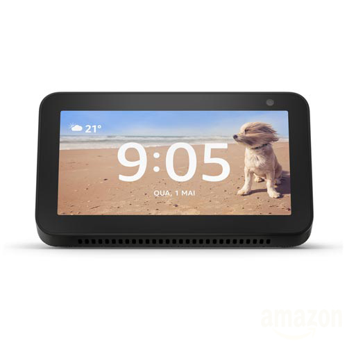 "Smart Speaker Amazon com Tela 5.5"" e Alexa Preto - ECHO SHOW 5"
