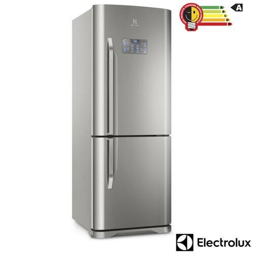 Refrigerador Bottom Freezer Electrolux de 02 Portas Frost Free com 454 Litros Painel Eletrônico Inox - DB53X
