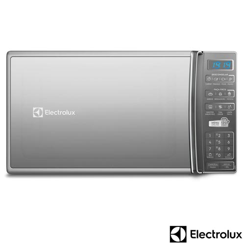 Micro-ondas Electrolux com 27 Litros de Capacidade e Função Tira Odor Prata - MS37R