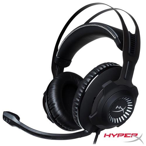 Headset Hyperx Gamer Cloud Revolver S Preto e Cinza - HX-HSCRS-GM/LA