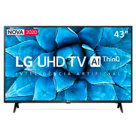 "Smart TV LG 43"" 4K UHD 43UN7300 WiFi Bluetooth HDR Inteligência Artificial ThinQAI Google Alexa"