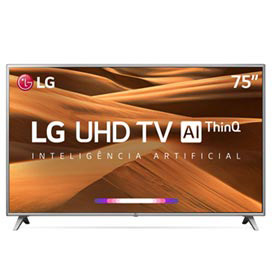"Smart TV LED 75"" 4K LG 75UM7570PSB"