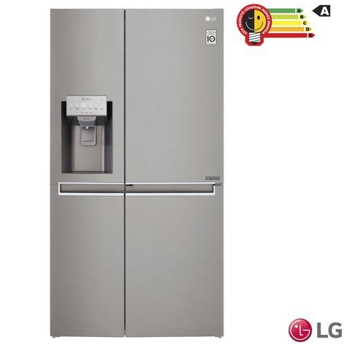 Refrigerador Side by Side New Lancaster LG Frost Free com 601 Litros Inverse com Painel Touch Led Aço Escovado - GS65SDN