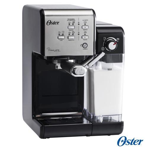 Cafeteira Oster PrimaLatte Evolution para Café Espresso Preta e Aço Escovado - BVSTEM6701SS