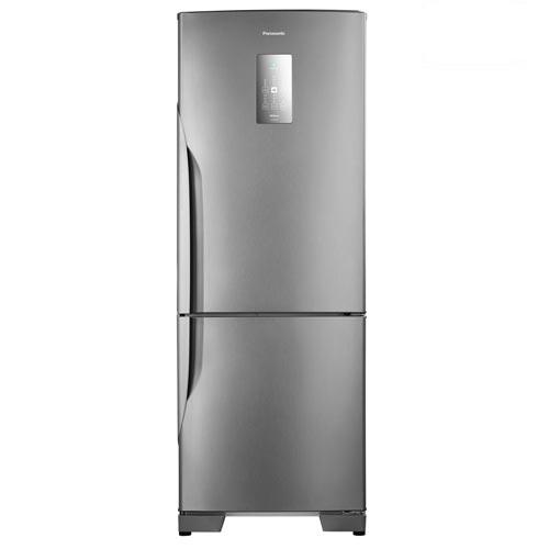 Refrigerador Bottom Freezer Inverter Panasonic de 02 Portas Frost Free com 480 Litros Aço Escovado - NR-BB71PVFX