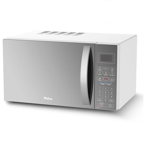 Micro-ondas Philco com 32 Litros de Capacidade, Timer e Porta Espelhada Prata - PMO33EB
