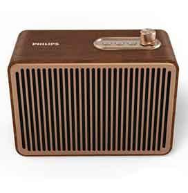 Caixa de Som Bluetooth Philips Vintage com Potência de 10W - TAVS500/00