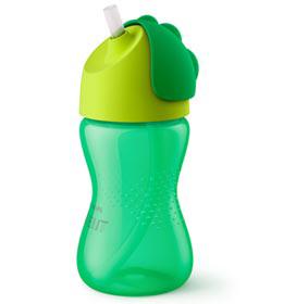 Copo com Canudo Curvado 300 ml Verde  Philips Avent