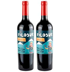 Kit com 02 Unidades de Vinho Tinto Filosur Malbec 2020 com 750 ml