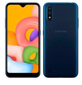 """Samsung Galaxy A01 Azul, com Tela de 5,7"""", 4G, 32GB e Câmera Dupla de 13MP + 2MP - SM-A015MZBSZTO"""