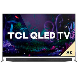 "Smart TV TCL 8K QLED 75"" com Dolby Vision, Google Assistant e Wi-Fi dual band e Bluetooth integrados - QL75X915"