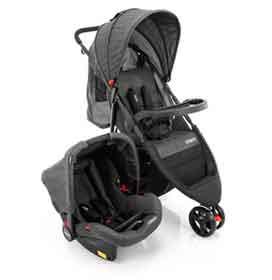 Carrinho de Bebê Travel System Jetty Duo Preto Mescla - Cosco