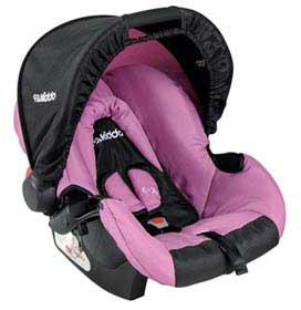 Bebê Conforto Cozycot de 0 a 13 Kg Rosa com Preto - Kiddo